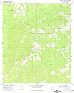 Alabama Maps - 1982 Citronelle West, AL USGS Historical Topographic Map - Cartography Wall Art - 35in x 44in