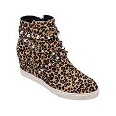 27dafed50daad Lace up leopard wedge bootie - Casual Women's Shoes
