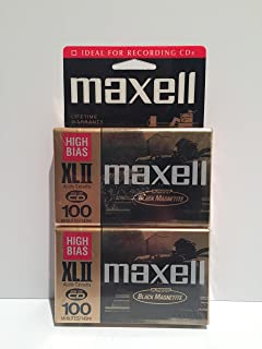 MAXELL XL II 100 Audio Cassette Tape (Pack of 2) (Discontinued by Manufacturer)