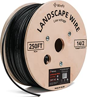 Wirefy 14/2 Low Voltage Landscape Lighting Wire - Outdoor Direct Burial - 14-Gauge 2-Conductor 250 Feet
