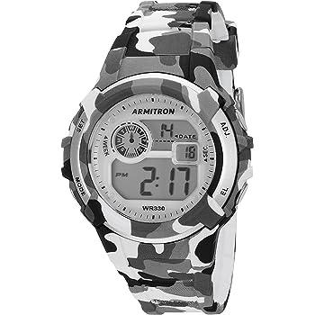 Armitron Sport Unisex 45/7059CGY Digital Grey and Black Camouflage Resin Strap Watch