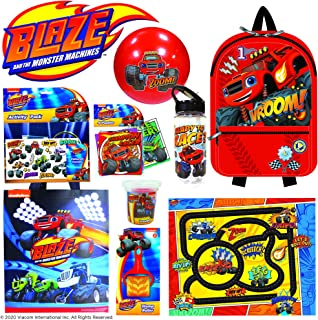 Blaze and The Monster Machines Showbag Boys Gift Pack with Backpack Cap Play Mat Play Dough Activity Set – Kids Show Bag  ...