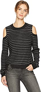 Women's Stripe Cold Shoulder Pullover Sweater
