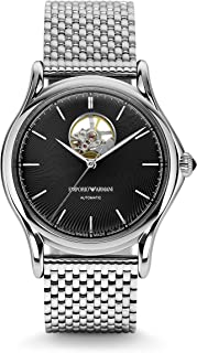 Emporio Armani - Reloj para Hombre de Automático con Correa en Acero Inoxidable ARS3300
