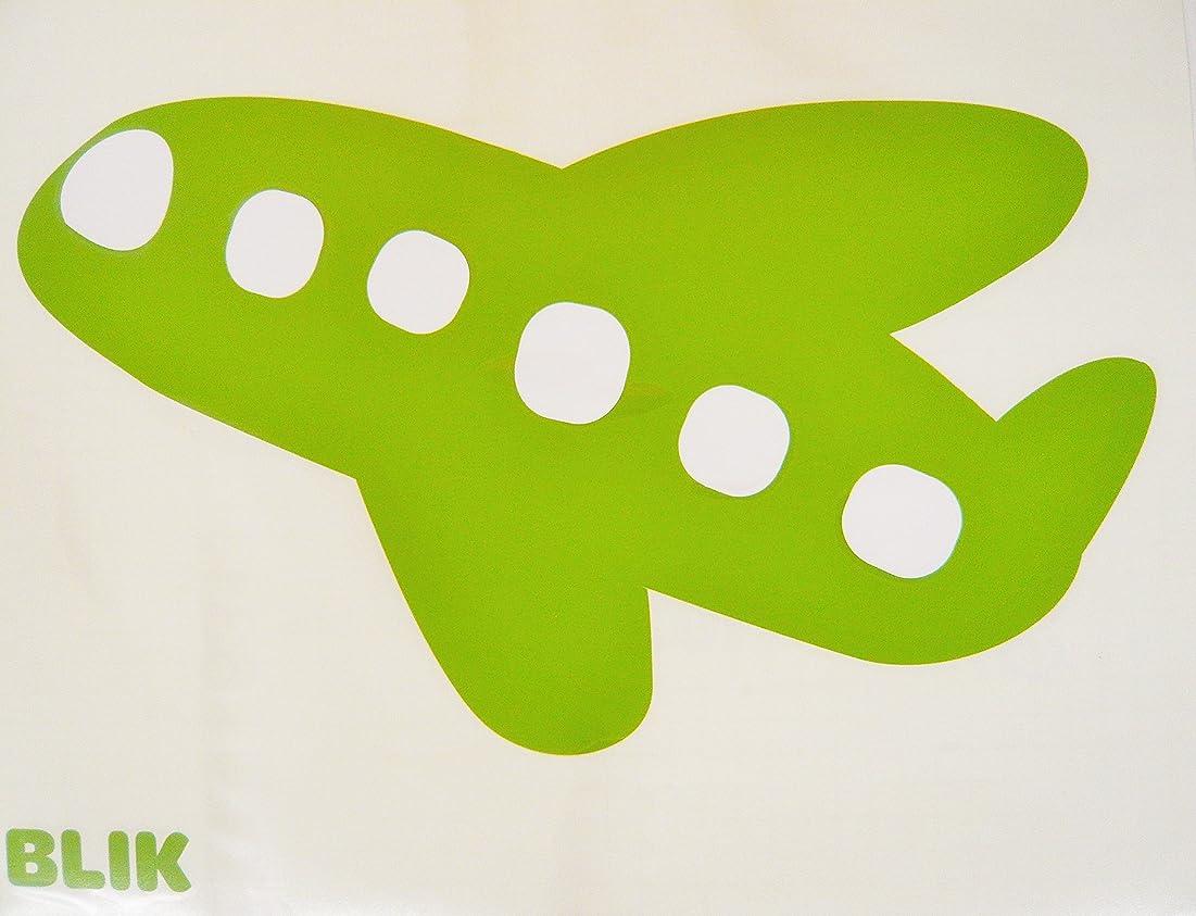 オーナーお客様ブランドBLIK 貼ってはがせるウォールステッカー プロ仕様 雲 Cloud-CottonCandy/Kiwi Plane ピンク/グリーン BL-110C-C アメリカ発 きれいに剥がせて壁を傷めないので賃貸にもOK!