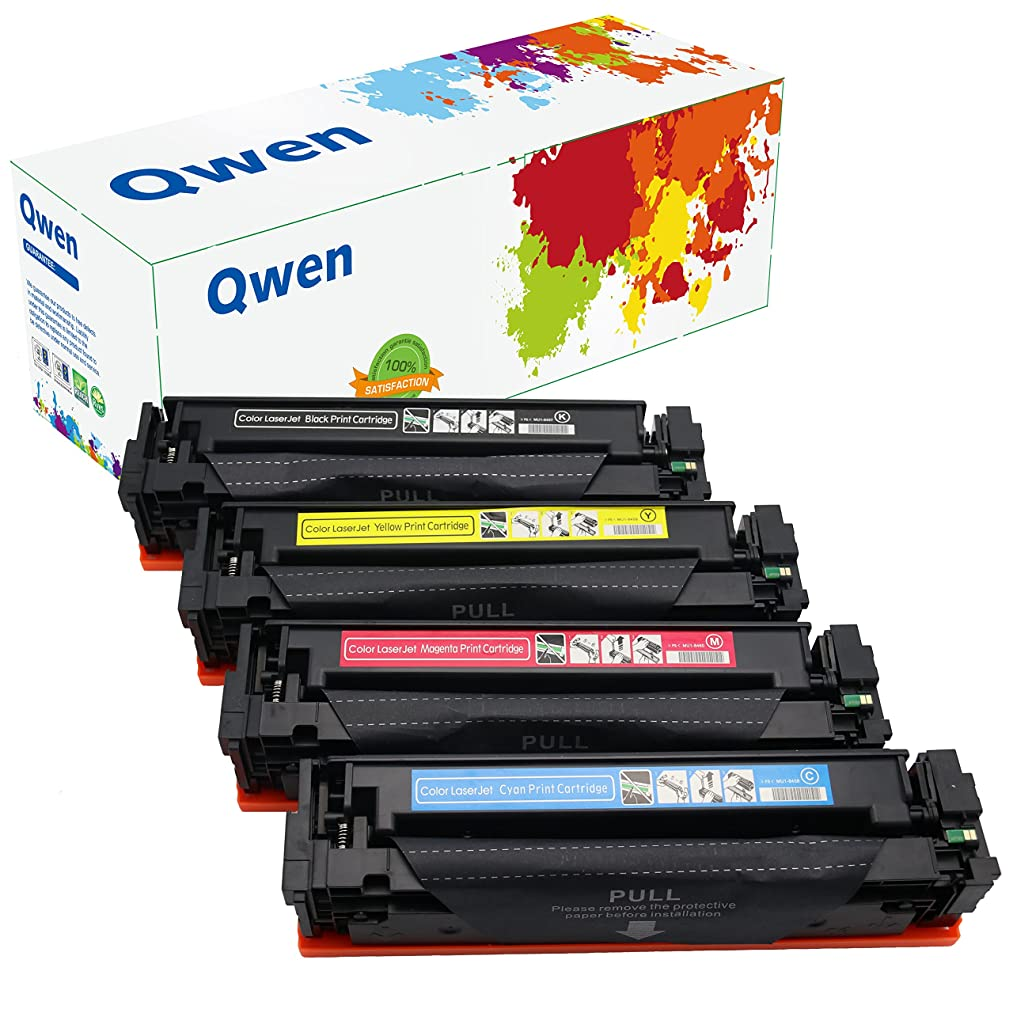 Qwen Compatible Toner Cartridge Replacement for HP CF410A CF411A CF412A CF413A 410A for HP Color LaserJet Pro M452dw M477fnw M377dw M452nw M452dn M477fdn (Black,Cyan,Magenta,Yellow, 4 Pack )