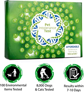 5Strands | Household Pet Environmental Intolerance Test Kit | for Dogs, Cats, More | Tests 100 Environmental Items | Fabrics, Cleaning Solutions, Trees, Grasses | Hair Analysis