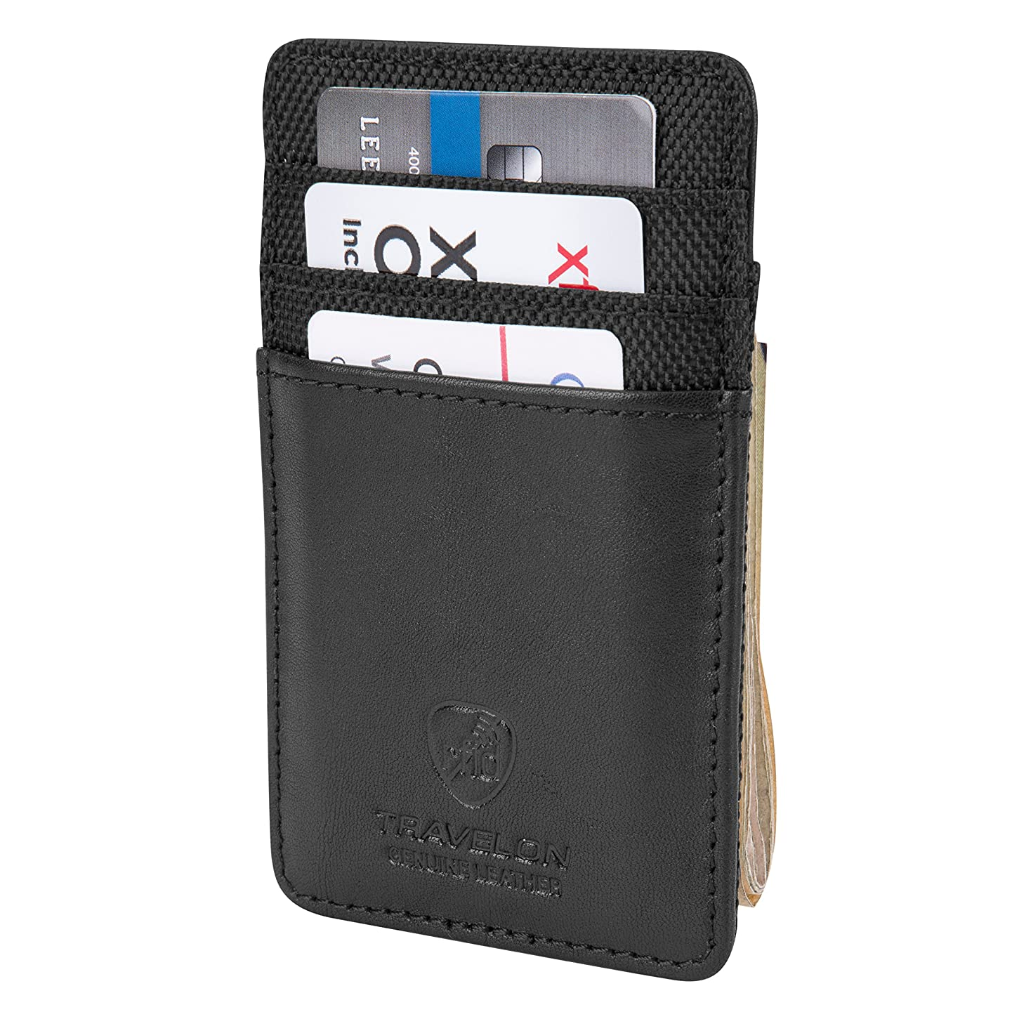 Travelon Safe Id Accent Money Clip Wallet, Black, One Size