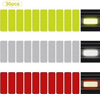 QBUC 30pcs Reflective Sticker, Safety Warning Reflective Sticker with Night Visibility, 5-Layer Diamond Grade Tape Warning...