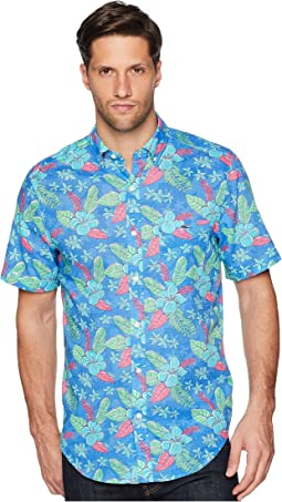 Cay Floral Short Sleeve Classic Tucker Shirt