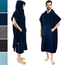 SUN CUBE Surf Poncho Changing Robe with Hood | Thick Quick Dry Microfiber Wetsuit Changing Towel with Pocket for Surfing B...