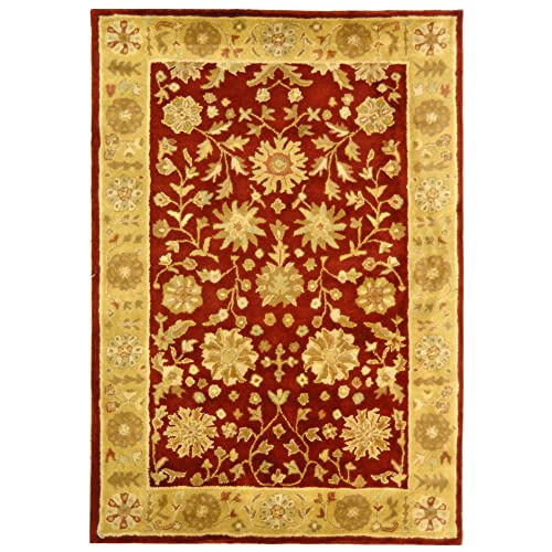 Traditional Area Rugs Red Gold Amazon Com