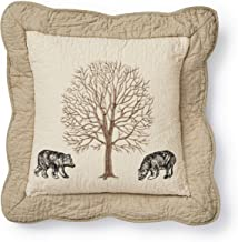 Donna Sharp Throw Pillow - Bear Creek Lodge Decorative Throw Pillow with Bear Pattern - Square
