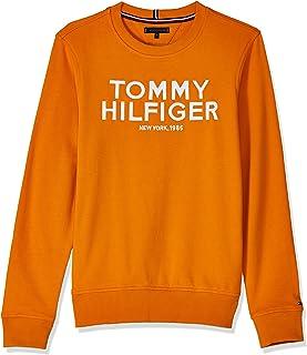Tommy Hilfiger Boy's Logo Embroidered Sweatshirt, Orange (Russet Orange 800)