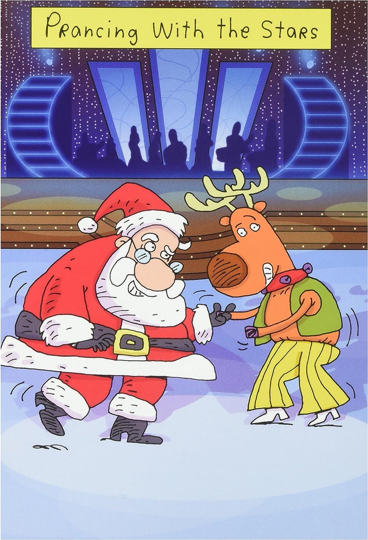 5756 'Prancing mit Sternen' Sternen' Sternen' – Funny Weihnachten Grußkarte mit 12,7 x 17,8 cm Umschlag, Nobleworks B004X7S5EE   Zu einem erschwinglichen Preis  7f93c5