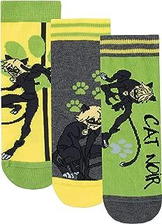 Boys' Cat Noir Socks Pack of 3