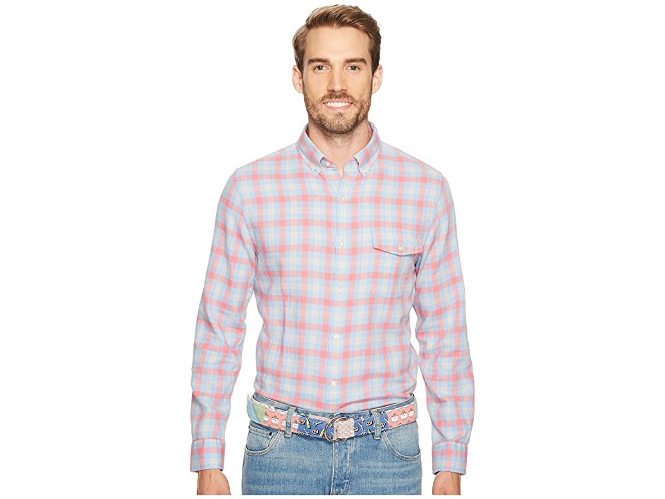 Vineyard Vines Hullman Point Plaid Slim Crosby (Mai Tai) Men