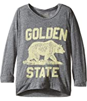The Original Retro Brand Kids - Golden State Tri-Blend Pullover (Big Kids)