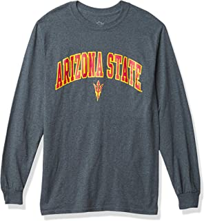 Elite Fan Shop NCAA Arizona State Sun Devils Mens Dark Heather Arch Long Sleeve Tee, Arizona State Sun Devils Dark Heathe...