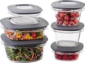 Rubbermaid Premier Food Storage Containers, 12-Piece Set, Grey (1951295)