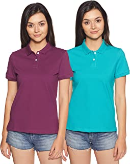 Amazon Brand - Symbol Women's Plain Polo (Pack of 2)