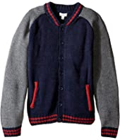 Pumpkin Patch Kids - Baseball Cardigan (Little Kids/Big Kids)
