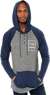NFL Ultra Game Men's Fleece Hoodie Pullover Sweatshirt Henley