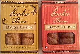 Trader Joe Bundle - Cookie Thins Meyer Lemon and Triple Ginger - 2 Items