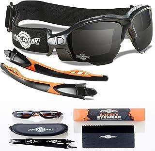 شیشه های محافظ ابزار ، عینک ایمنی و عینک های محافظ ، فوم عینک بسته شده برای راحتی و حفاظت بهتر ، دارای امتیاز ANSI Z87 ، لنزهای دود شده با دود با ضربه و محافظت در برابر اشعه ماوراء بنفش