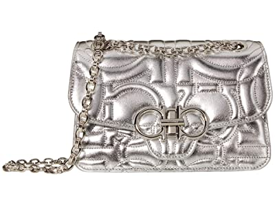 Salvatore Ferragamo Quilting Metallic (Argento) Handbags