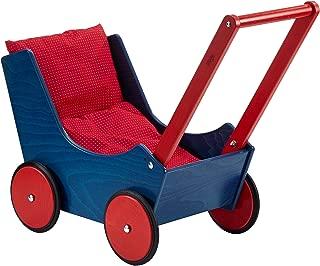 HABA Doll pram, Blue/Red Baby Doll