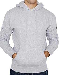 New York Avenue Men's Hooded Sweatshirt - Soft Light Fleece Pullover Hoodie