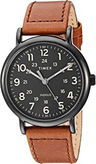 Men's TW2T30500 Weekender 40mm Brown/Black Two-Piece Leather Strap Watch