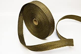 Titanium LAVA Exhaust heat header pipe wrap roll 1 INCH WIDE X 50 FEET LONG - Thermal Zero handles up to 3000° F - LV116150
