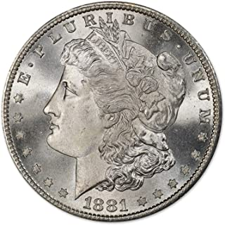1881 S Morgan Silver Dollar (BU) $1 Brilliant Uncirculated