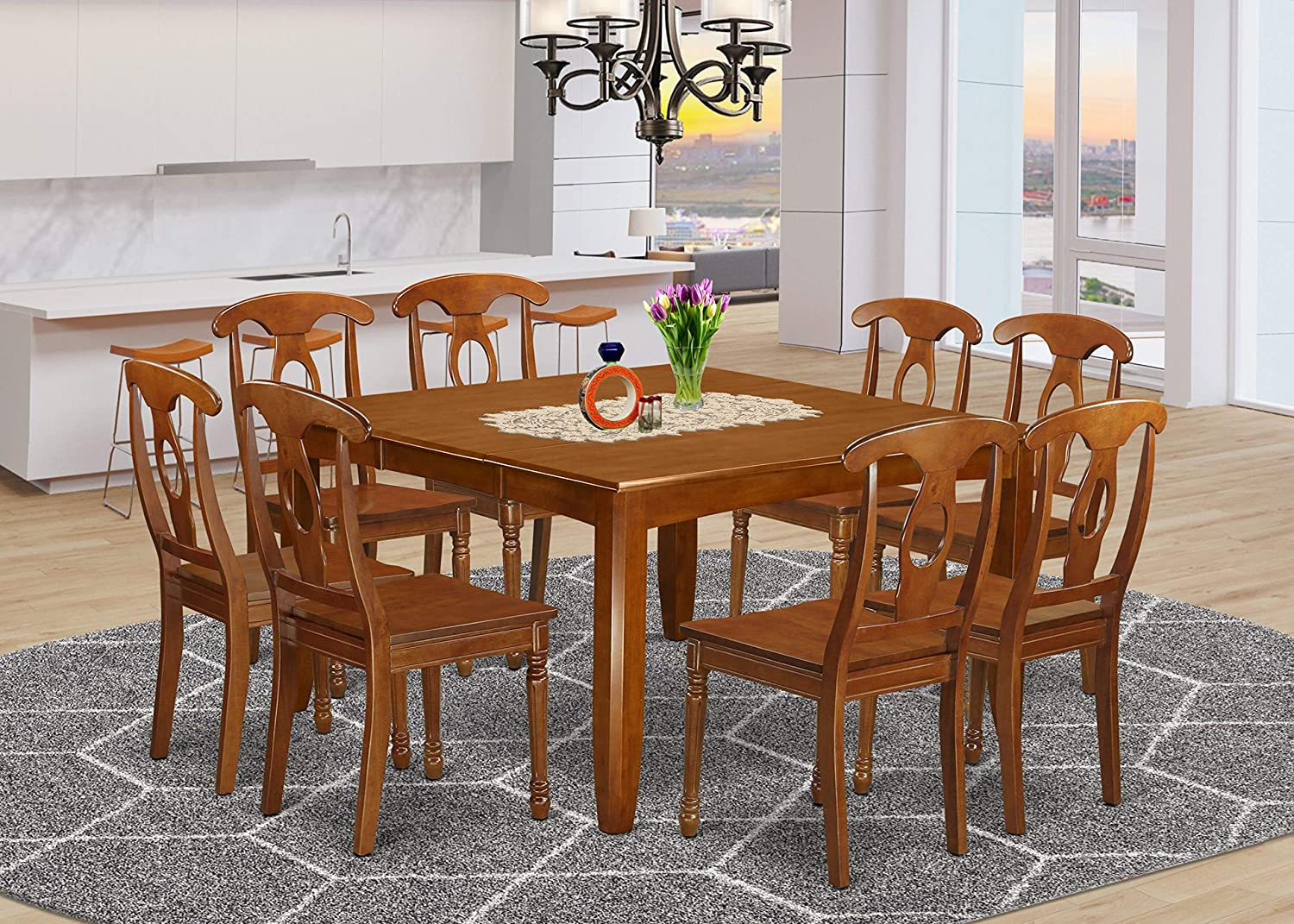 9 Pc formal 35% OFF Dining room Excellent set with and Dinette Leaf Table 8