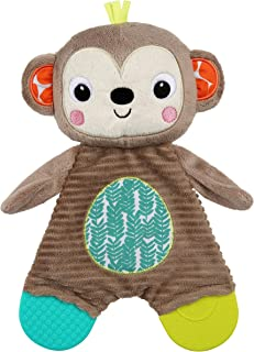 Bright Starts Snuggle & Teethe Plush Teether – Monkey, Ages Newborn +