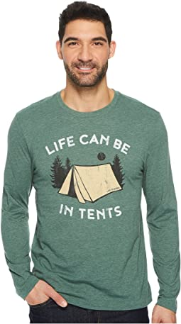 Life is Good - In Tents Life Long Sleeve Cool Tee