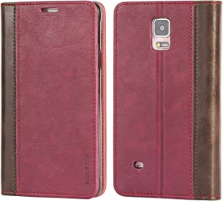 Galaxy Note 4 Case,Mulbess BookStyle Leather Wallet Case Cover with Kick Stand for Samsung Galaxy Note 4,Wine Red