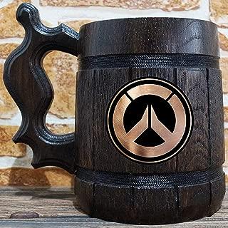 Overwatch Beer Mug, Overwatch Beer Stein, Gamer Gift, Personalized Beer Stein, Overwatch Tankard, Custom Gift for Men, Gift for Him