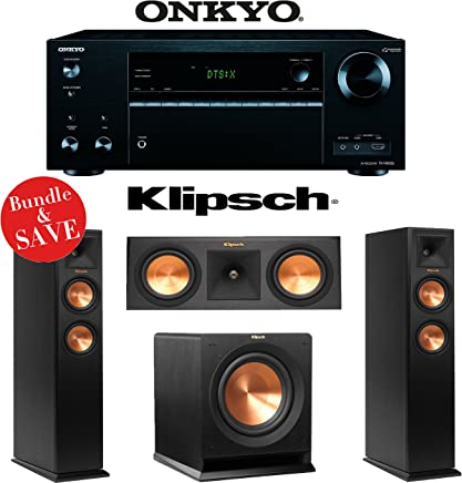 Onkyo TX-NR656 7.2 Channel Network A/V Receiver + Klipsch RP-250F + Klipsch RP-250C + Klipsch R-110SW - 3.1 Reference Premiere Home Theater Package