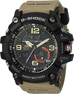 Casio G Shock Quartz Watch with Resin Strap, Beige, 30 (Model: GG1000-1A5)