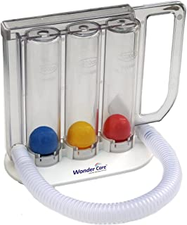 Wonder Care Deep Breathing Lung Exerciser | Washable & Hygienic | Breath Measurement System | with Handle