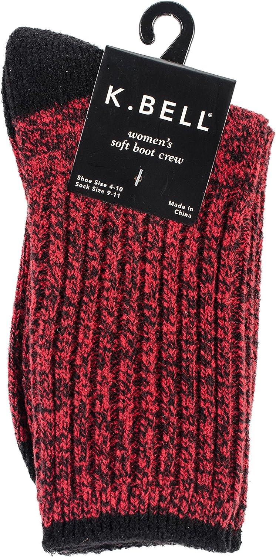 K. Bell Socks womens Super Soft Marled Fashion Boot Crew Socks
