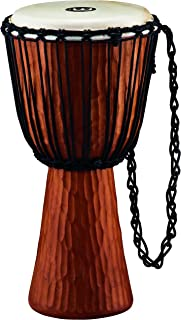 """Meinl Percussion Djembe with Mahogany Wood-NOT Made in CHINA-12 Large Size Rope Tuned Goat Skin Head, 2-Year Warranty, Brown 12"""" HDJ4-L"""