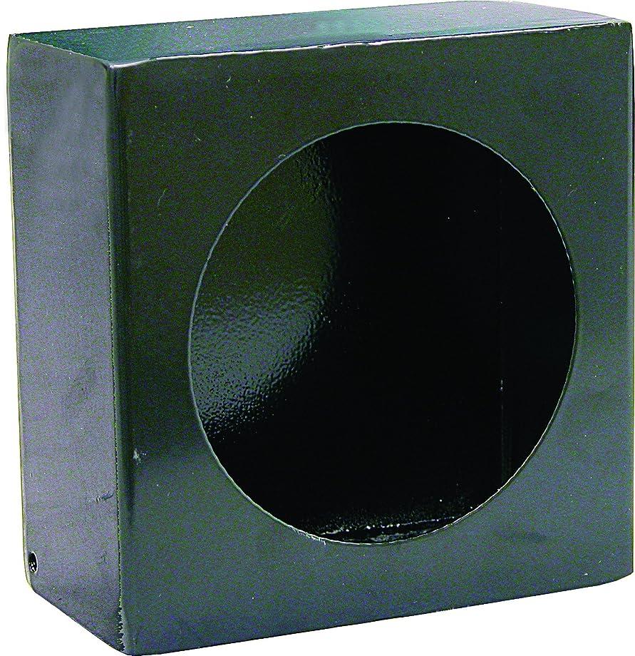 Buyers Products LB663 Single Round Light Box, Black Powder Coat Steel