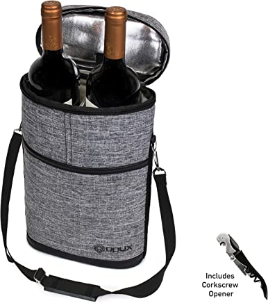 Premium Insulated 2 Bottle Wine Tote