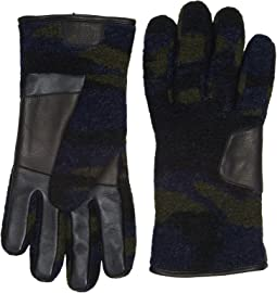 UGG - Fabric Smart Gloves w/ Leather Trim