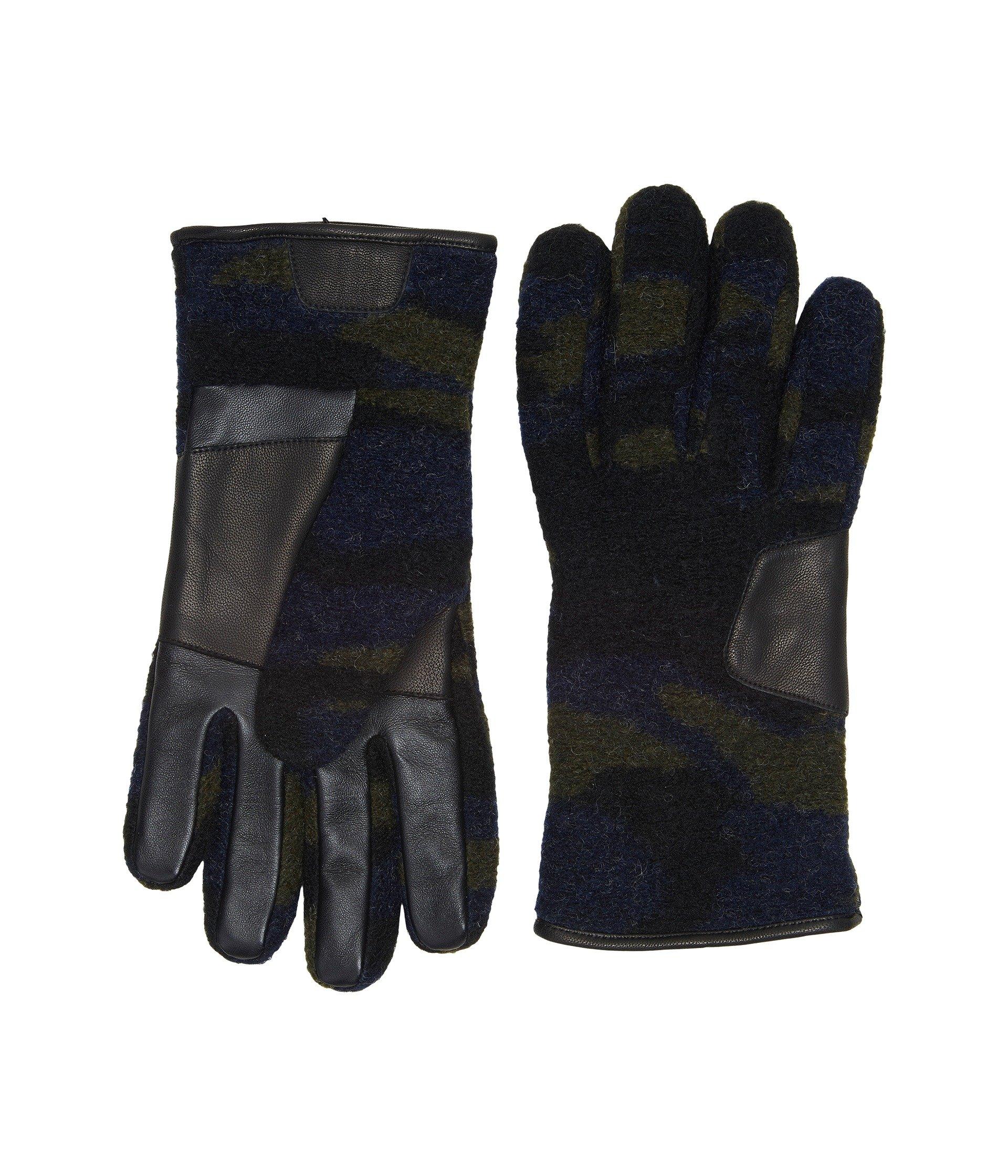 Guantes para Hombre UGG Fabric Smart Gloves w/ Leather Trim  + UGG en VeoyCompro.net