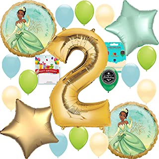 Princess and the Frog Tiana Party Supplies Birthday Decoration Balloon Bundle 2nd Birthday